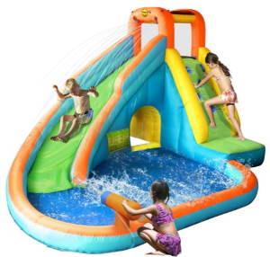 Happy Hop Water Slide m. pool Oppustelig vandrutchebane